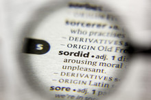 The Word Or Phrase Sordid In A...