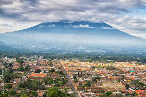 View from Cerro de la Cruz in Antigua, Guatemala, Central America Wallpaper Mural