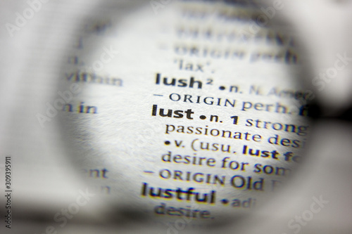 Fotografia The word or phrase Lust in a dictionary.