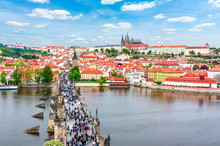 Prague Cityscape With Charles ...