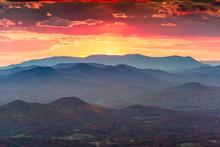 Brasstown Bald, Georgia, USA View Of Blue Ridge Mountains In Autumn
