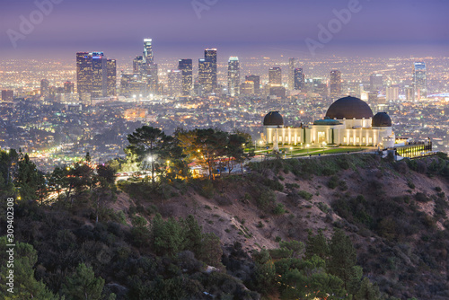 Photo Los Angeles, California, USA downtown skyline from Griffith Park