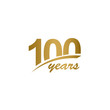 100 Years Anniversary elegant Gold Line Celebration Vector Template Design Illustration