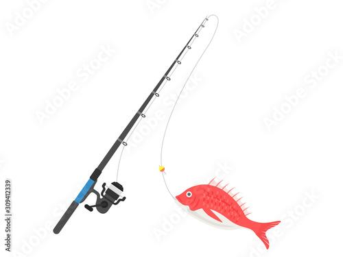 Fotografia, Obraz 魚釣りのイラスト