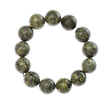 String Of Beads From Natural Serpentine Gemstone