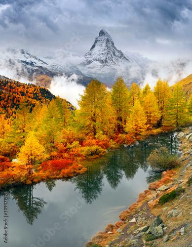 Foto Rollo Basic -  Lake Grindjisee (von panaramka)