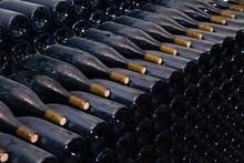Ancient Dark Dusty Wine Bottle...