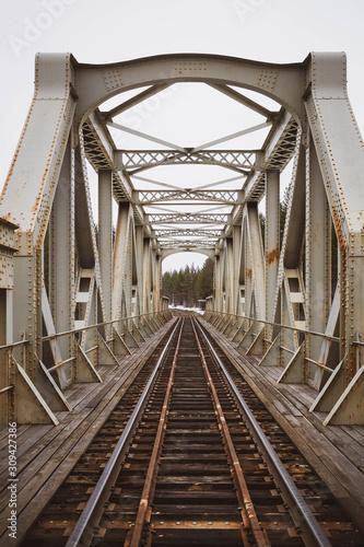 Old railway bridge in Sweden