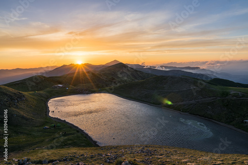 Photo Landscape of the northern Apennines  Italy, from peak Corno Alle Scale to Dardag