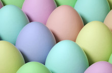 Colorful Easter Eggs As A Background. Close-up. Holiday Easter Layout.