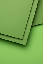 Abstract Green Geometric Shapes. Material Design Concept.