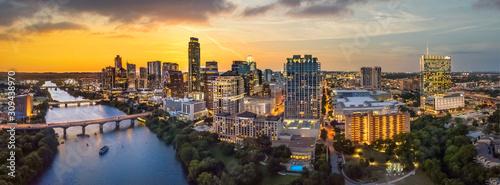 Fotografia Austin Texas skyline with sunset