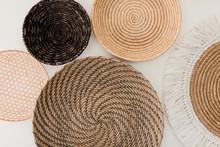 Natural Woven Basket Wall Hangings
