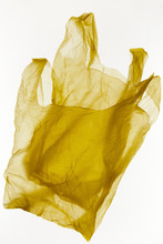 Set Of Crumpled Yellow Bags