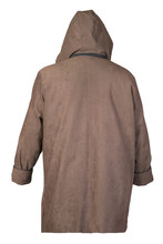 Female Coat With A Hood Isolated On A White Background.