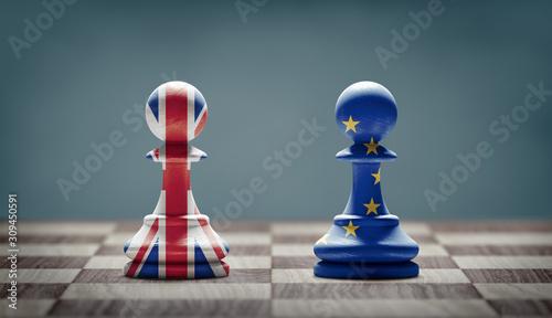 Cuadros en Lienzo Brexit concept