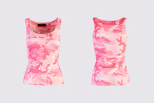 Women's Pink Camo Tank Top Iso...