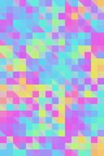 Vibrant Colorful Iridescent Mosaic Background/Pattern