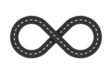 Infinity Road Loop Icon. Infin...