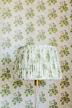 Matching Floral Lamp Shade And Wallpaper