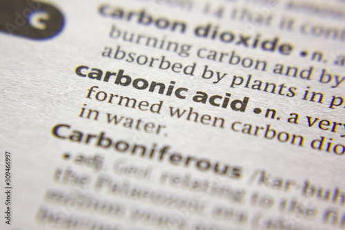Vászonkép Word or phrase Carbonic acid in a dictionary.