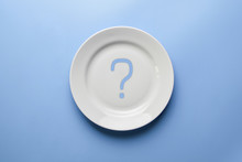 Question Mark On Empty Plate. ...