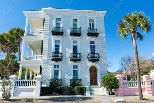 Charleston, South Carolina is home to a large and beautiful historic district Canvas Print