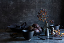 Arrangement Of Kitchenware And...