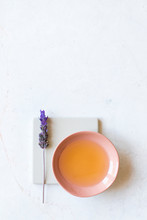 Aromatherapy Lavender Oil In A Small Dish