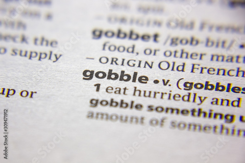 Word or phrase Gobble in a dictionary. Fototapeta