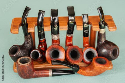 Fotografía Classic briar wooden smoke pipe