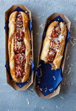 Meatball And Cheese Sub With All The Fillings