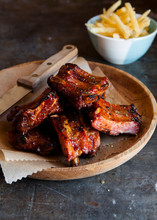Sticky Bbq Ribs With Fries