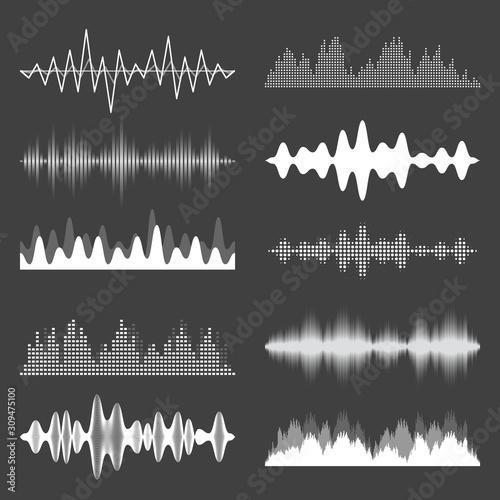Fototapeta  Sound waves collection