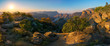 canvas print picture - three rondavels and blyde river canyon at sunset, south africa
