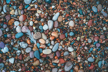 Multi Colored Pebbles And Smoo...