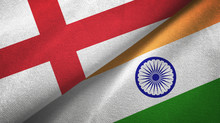 England And India Two Flags Textile Cloth, Fabric Texture