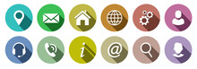 Set Of Colorful Communication Web Icons