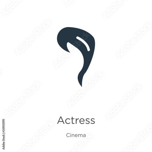 Actress icon vector Wallpaper Mural