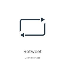Retweet Icon Vector. Trendy Fl...