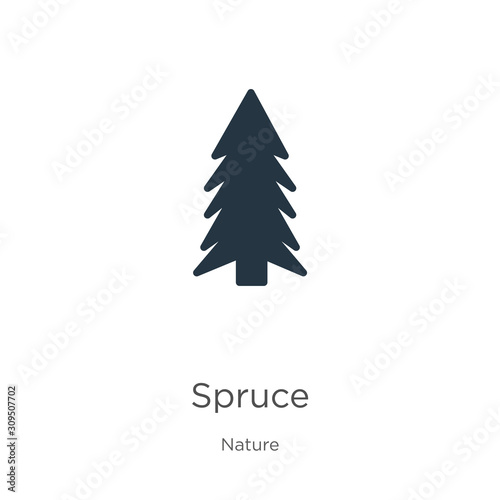 Fototapeta Spruce icon vector. Trendy flat spruce icon from nature collection isolated on white background. Vector illustration can be used for web and mobile graphic design, logo, eps10 obraz