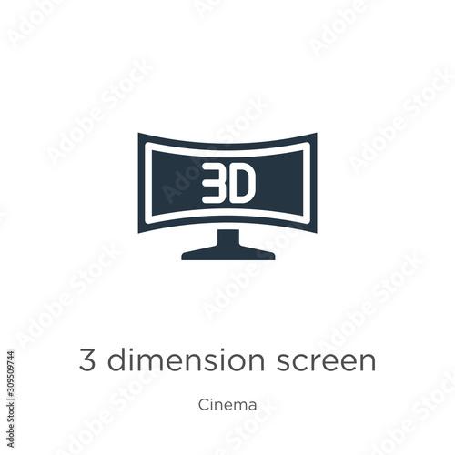 3 dimension screen icon vector Canvas Print