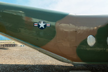 Rear Section Of An Airplane With A U.S. Air Force Insignia