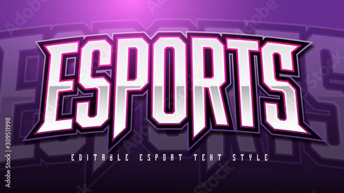 Esport Text Style effect Mockup Tablou Canvas