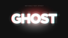 Ghost 3D Text Style Effect Mockup