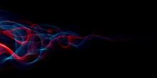Abstract Light Smoke Red And B...