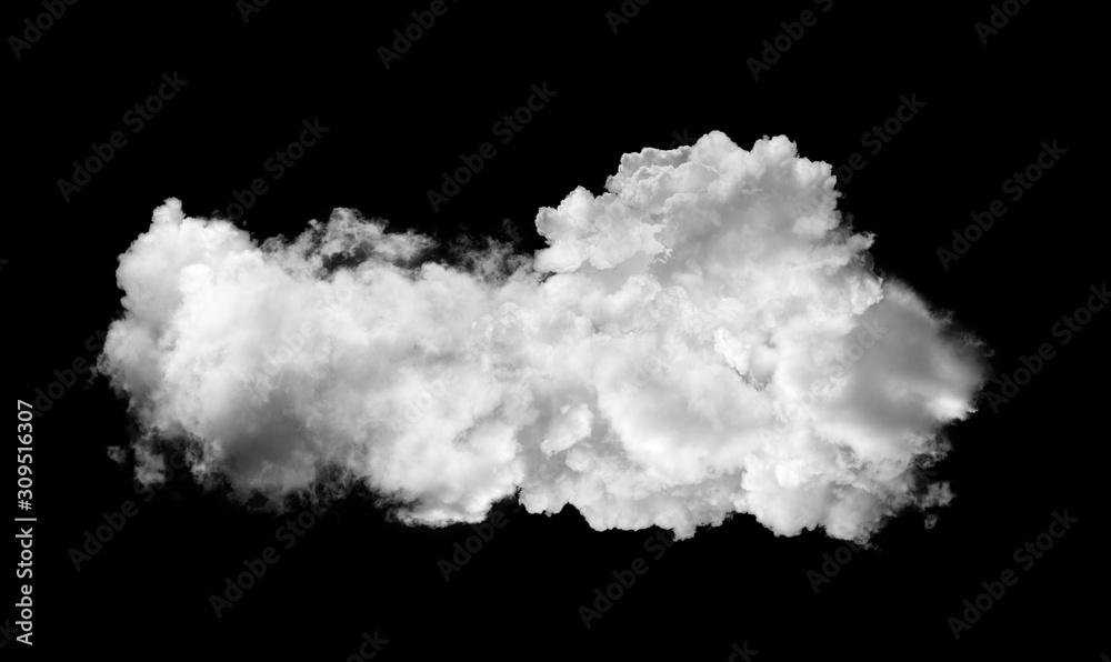 Fototapeta white clouds on black background