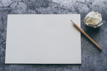 White Blank Page Of Notebook, ...