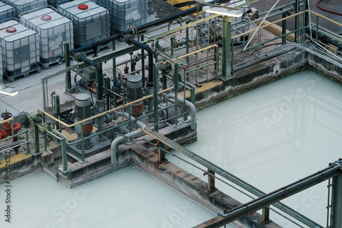 Photo Waste water treatment pit with submersible pump
