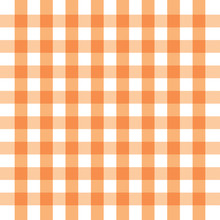 Checkered Orange And White Check Pattern Background,vector Illustration